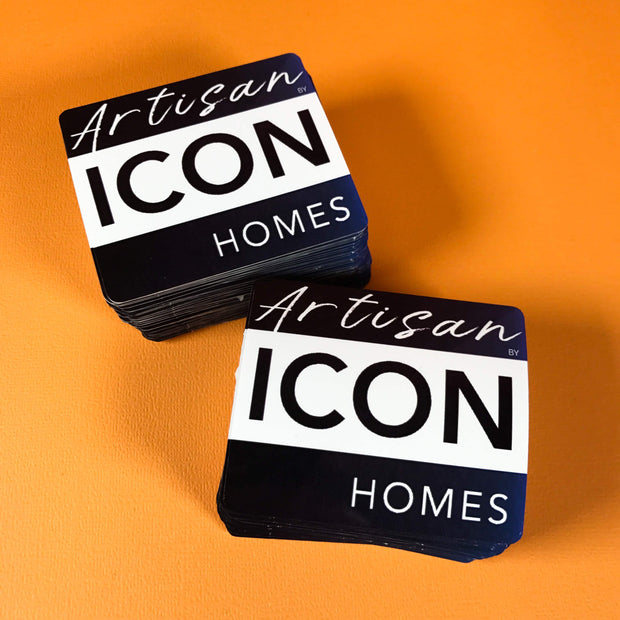 Classic square shaped stickers to boost your branding