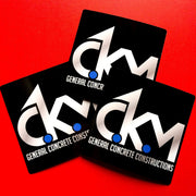 CKM uses square stickers to make their brand stick