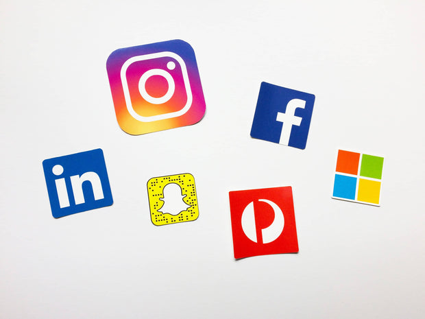 Squares are a common logo shape such as Facebook, Instagram, Snapchat, Linkedin