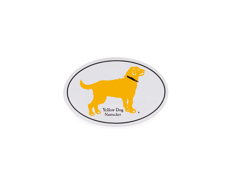 Yellow Dog® Nantucket Oval Sticker