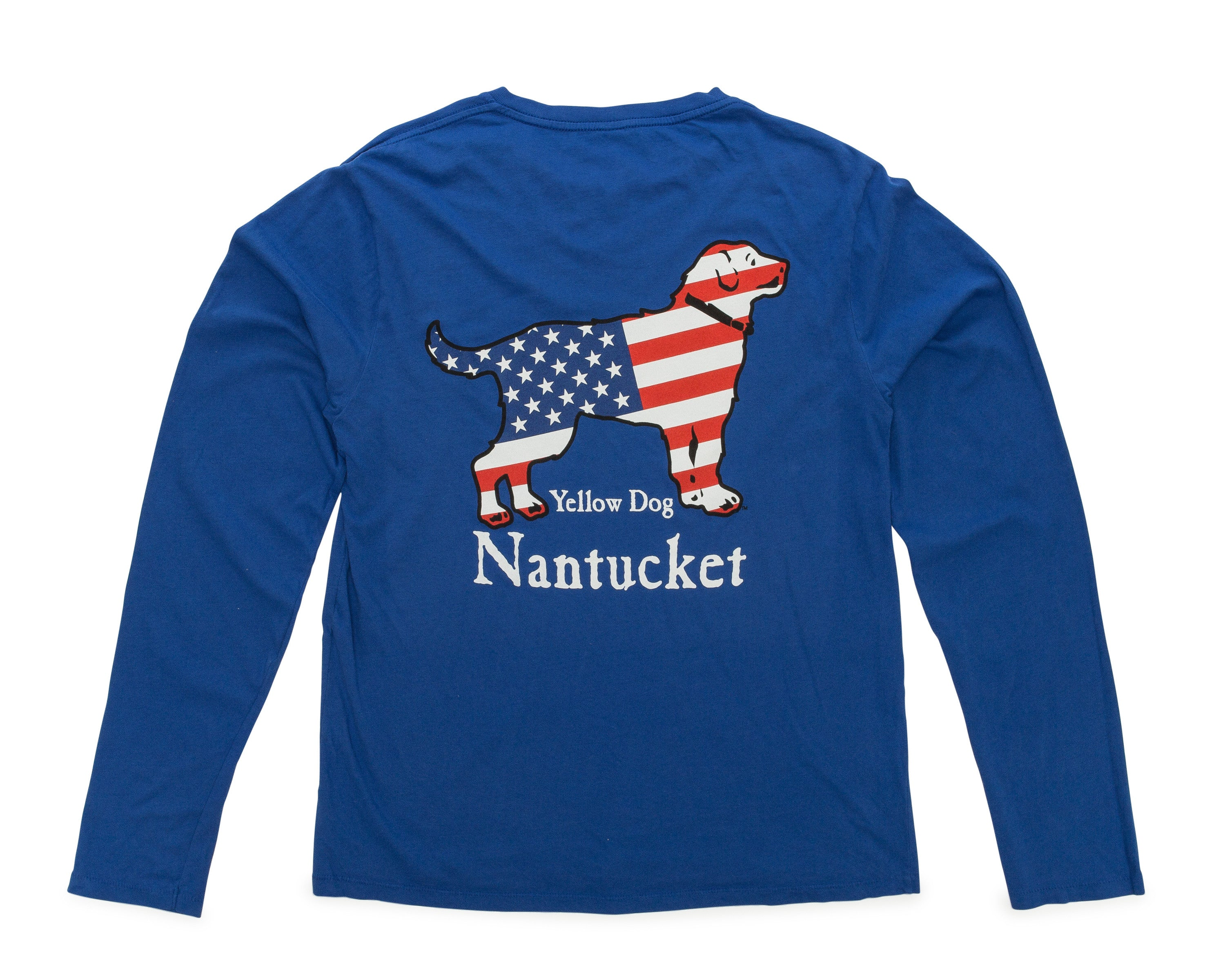 Yellow Dog Nantucket Long Sleeve USA Tshirt Unisex fit