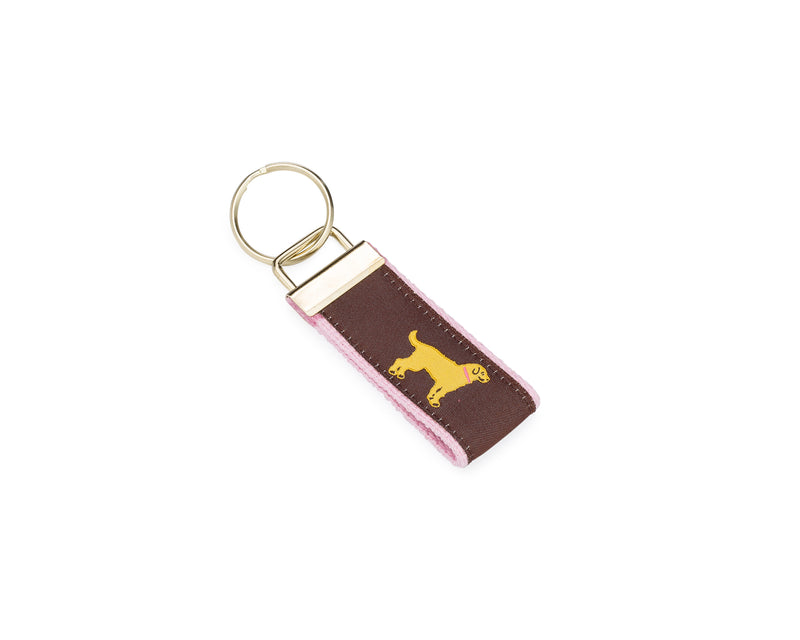 Yellow Dog® Pink Key Fob