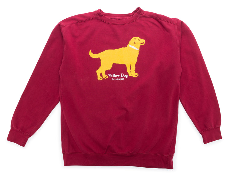 Yellow Dog Crew Neck Sweatshirt Cranberry