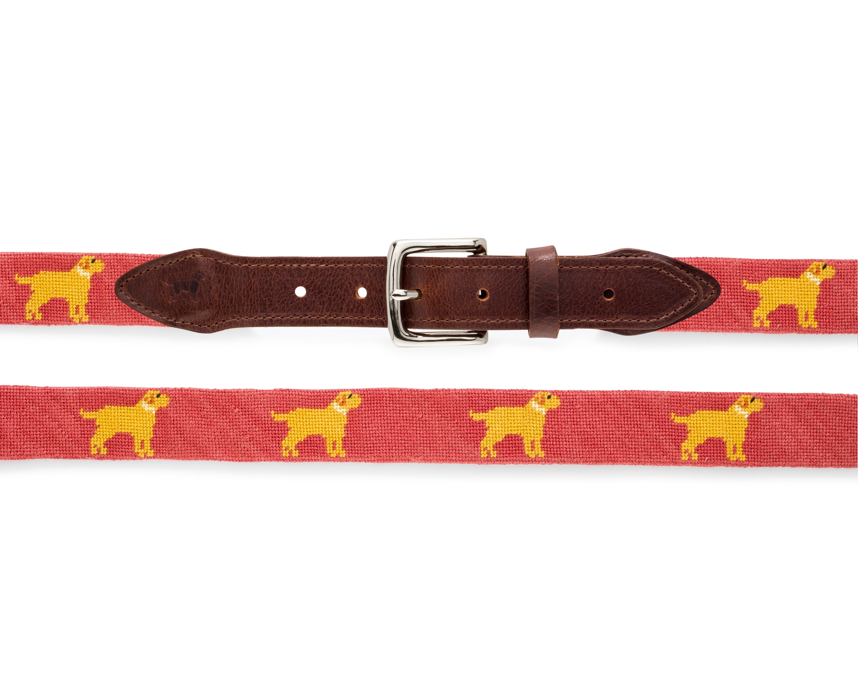 Yellow Dog® Retriever Needlepoint Belt