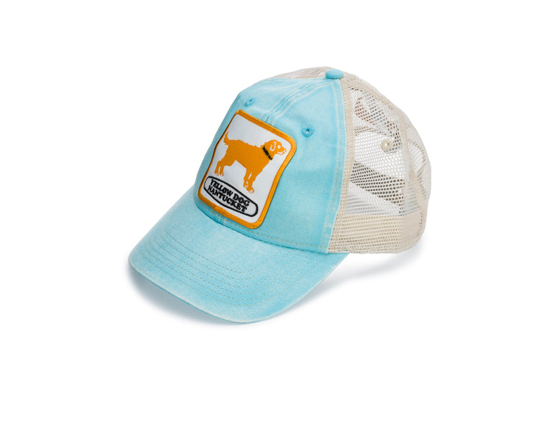 Yellow Dog Nantucket Trucker Mesh Cap: Island Blue