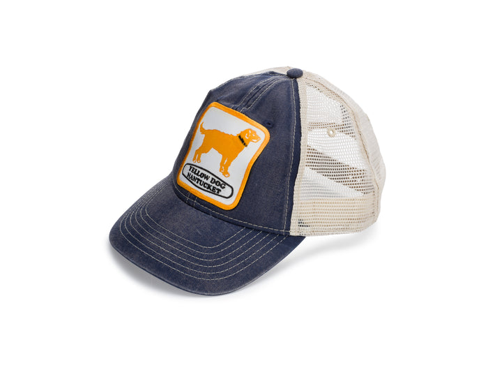 Yellow Dog Nantucket Island Trucker Cap with mesh back