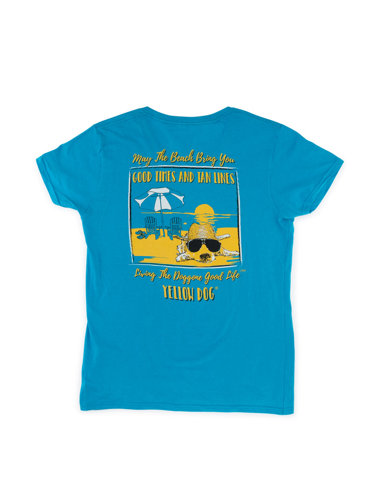 Short Sleeve t-shirt Yellow Dog Collection: Good Times Tan Lines