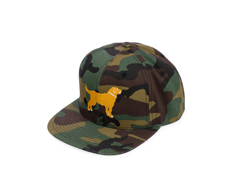 Yellow Dog Snap Back Camo Cap