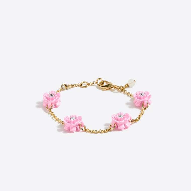 Girls Flower Stone Bracelet