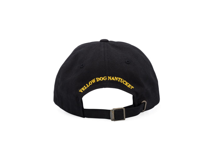 Yellow Dog Nantucket Black Cotton Cap