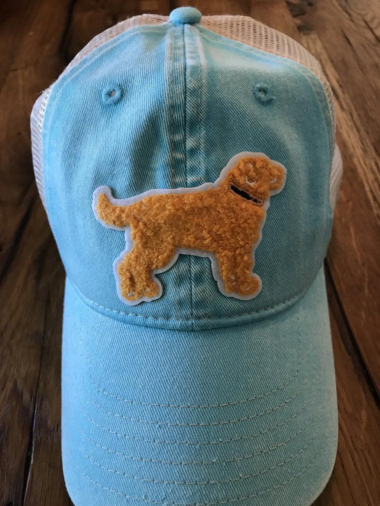 Yellow Dog Trucker Cap Mesh back: Caribbean Blue