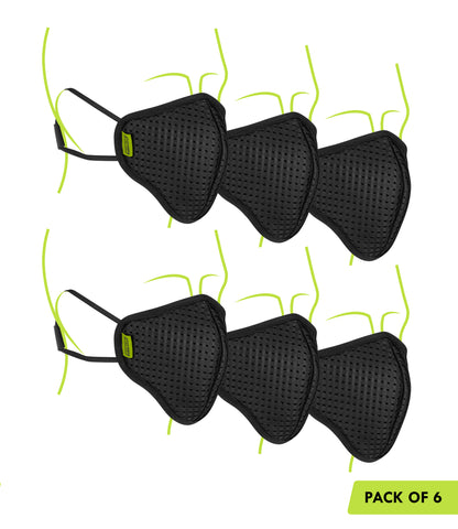 Defender Pro R95 Mask Pack of 6 Black 1