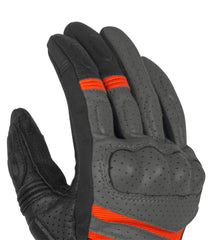 Rynox Air GT Gloves Grey Orange 4
