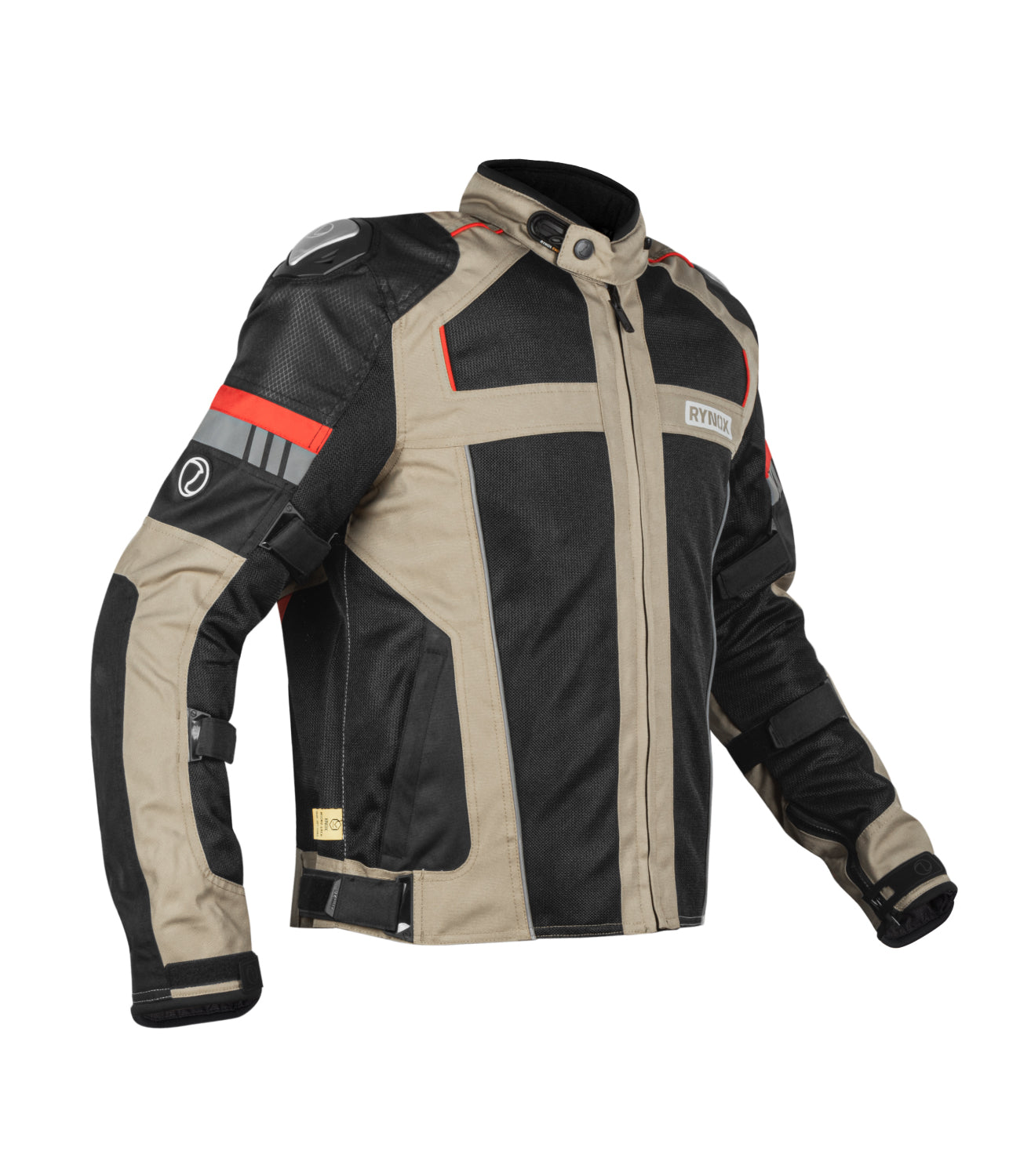 Rynox Storm Evo Jacket Black Sand Brown 1