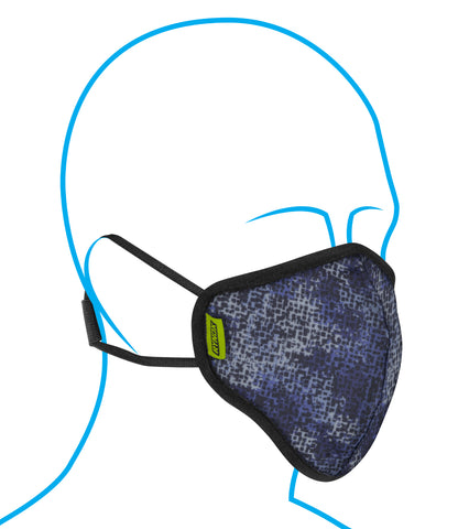 Rynox Defender Evo R99 Mask Camo Electric Blue 1