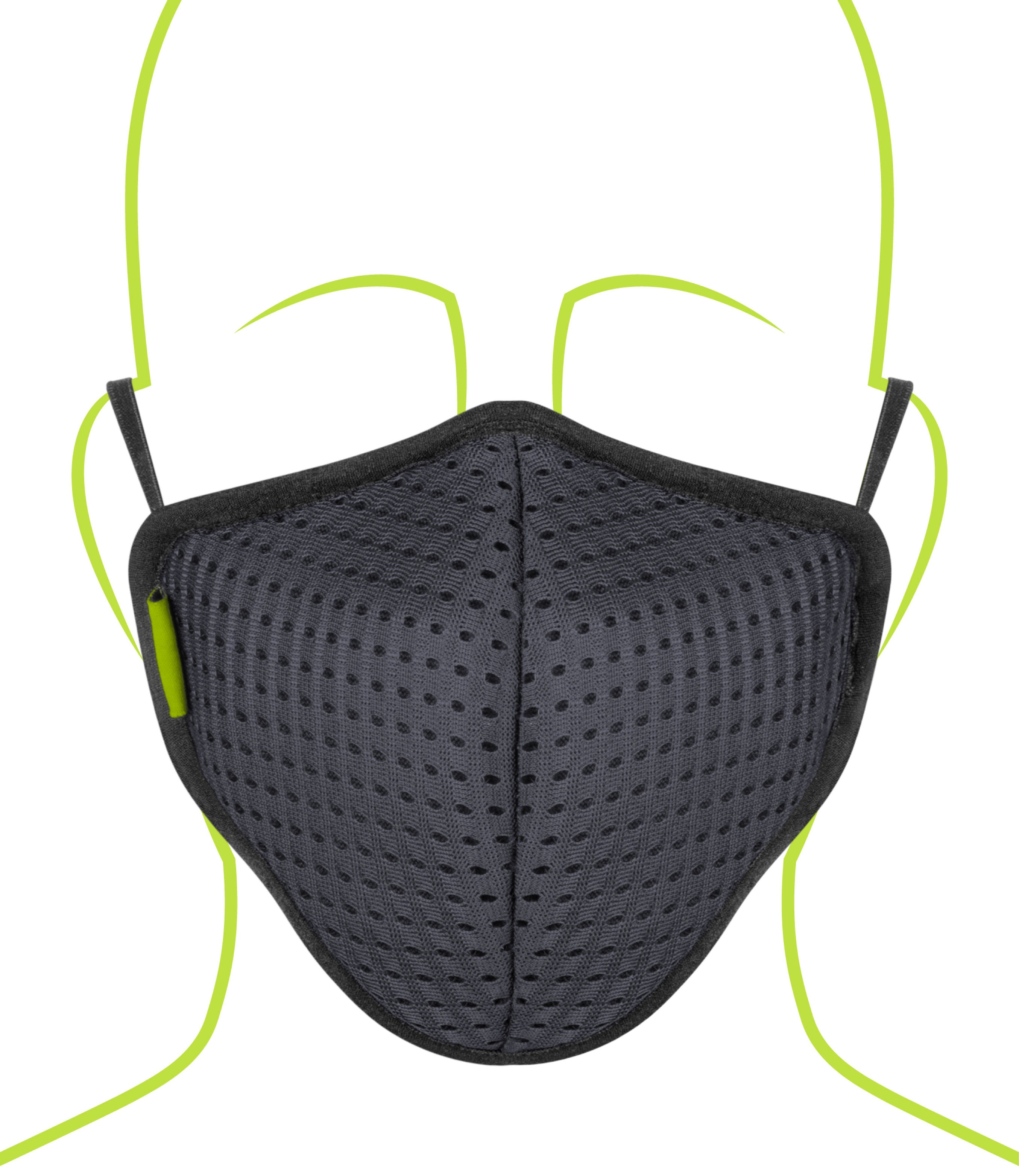 Rynox Defender Pro R95 Mask Dark Grey 7