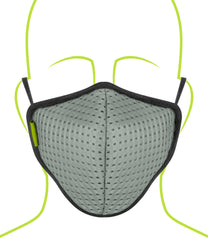Rynox Defender Pro R95 Mask Light Grey 6