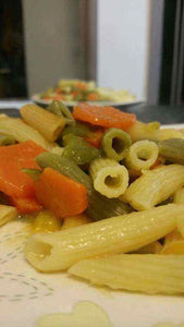 Three colours pasta with vegetable recipe