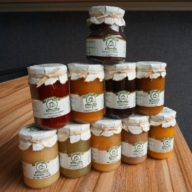 Collection of jam honey