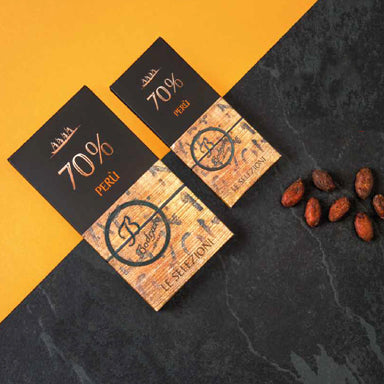 Dark Chocolate Bar 70% cocoa from Peru` 80gr/40gr