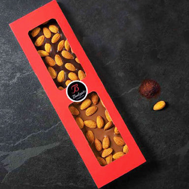 Double chocolate bar with almonds 260gr