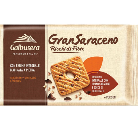 Galbusera Gran Saraceno Biscuits with Buckwheat and Whole wheat flower 260gr