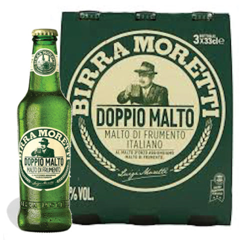 Italian Moretti Beer double malt 33CL