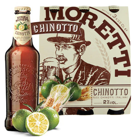 Italian Moretti Beer with Chinotto 33CL