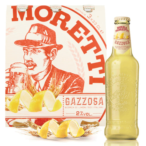Italian Moretti Beer with Gazzosa 33cl