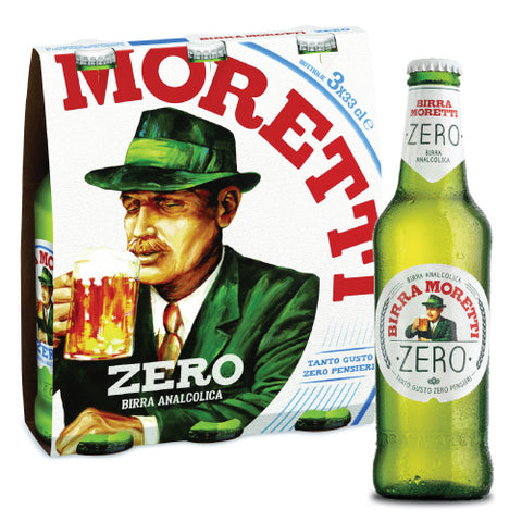 Italian Moretti beer zero light colour 33cl