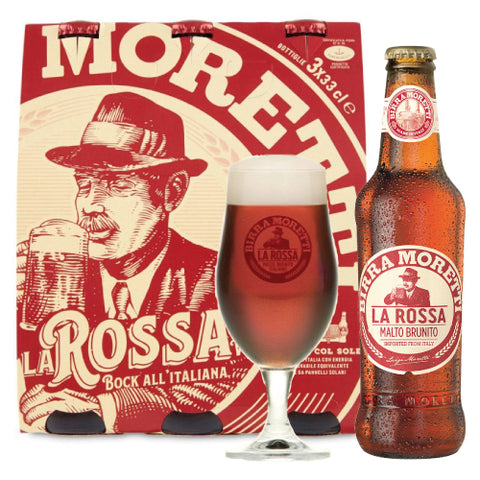 Italian double malt Red Bear Moretti 33cl