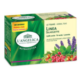 L'ANGELICA HERBAL TEAS SILHOUETTE WHITH GREEN COFFEE, GREEN THE with cherry, Melilotus, Malva, Rose