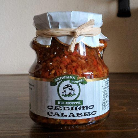 Ordigno Calabro (Spicy mix vegetables and mushrooms) 275g