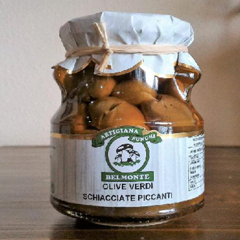 Spicy Green Olives 300g