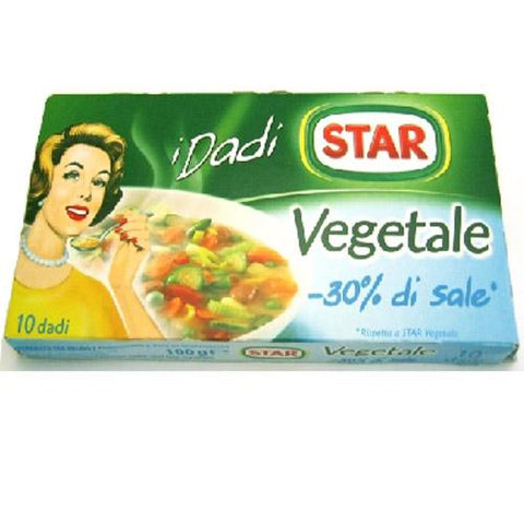 Star vegetable stock cube with -30% salt