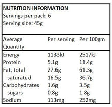 ESSENTIALLY KETO Fat Drops - Roasted Almonds (45g) Nutritional Information