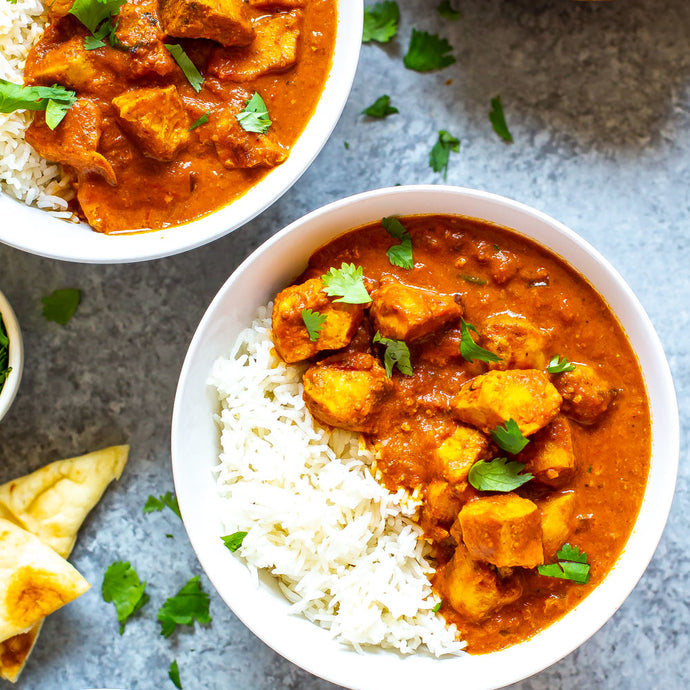 Butter Chicken serve over White Rice (NDIS)