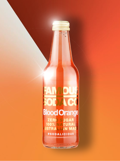 Famous Soda Co - (Blood Orange)