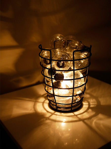 Lightbulb Basket Lamp
