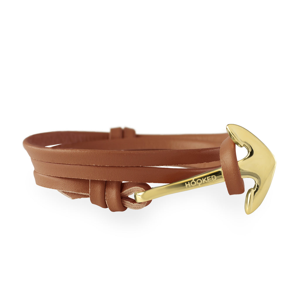 Anchor Cognac Leather Wrap