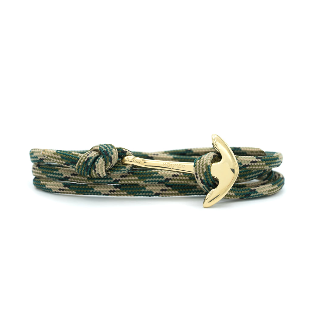Anchor Black/Green/Nude Paracord Wrap