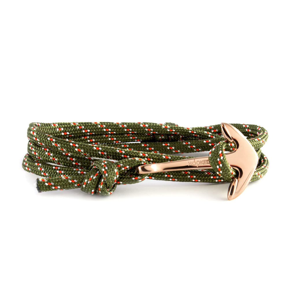 Rose Gold Anchor | Multi-color Paracord wrap