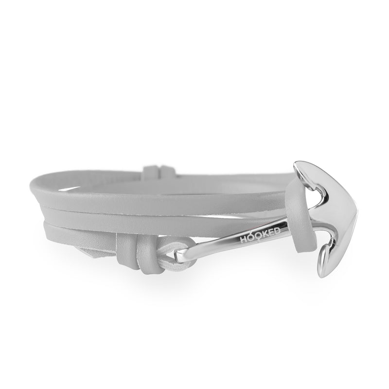Anchor Light Grey Leather Wrap