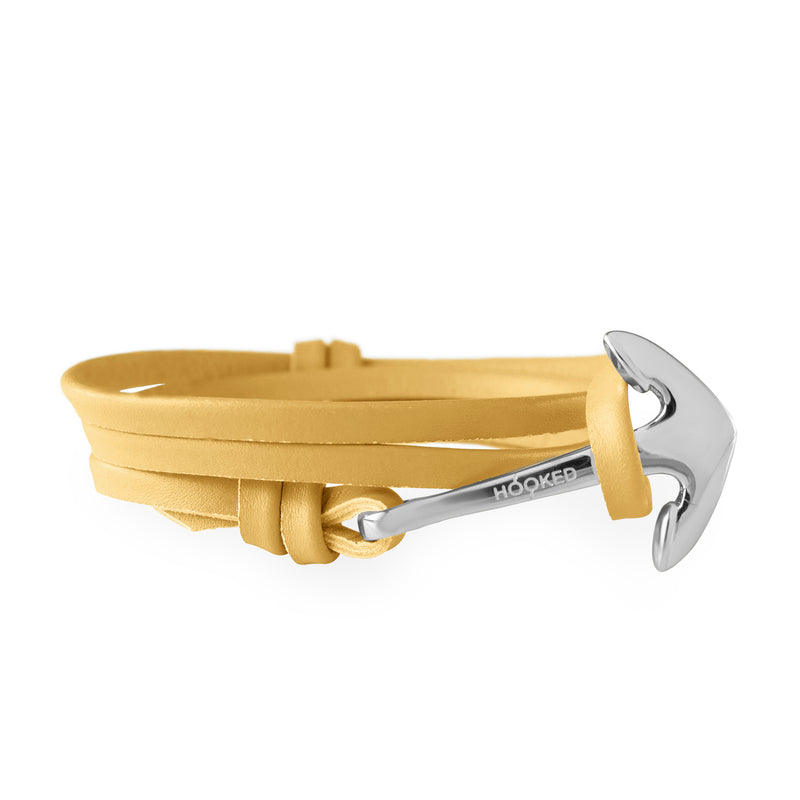 Anchor Funky Yellow Leather Wrap