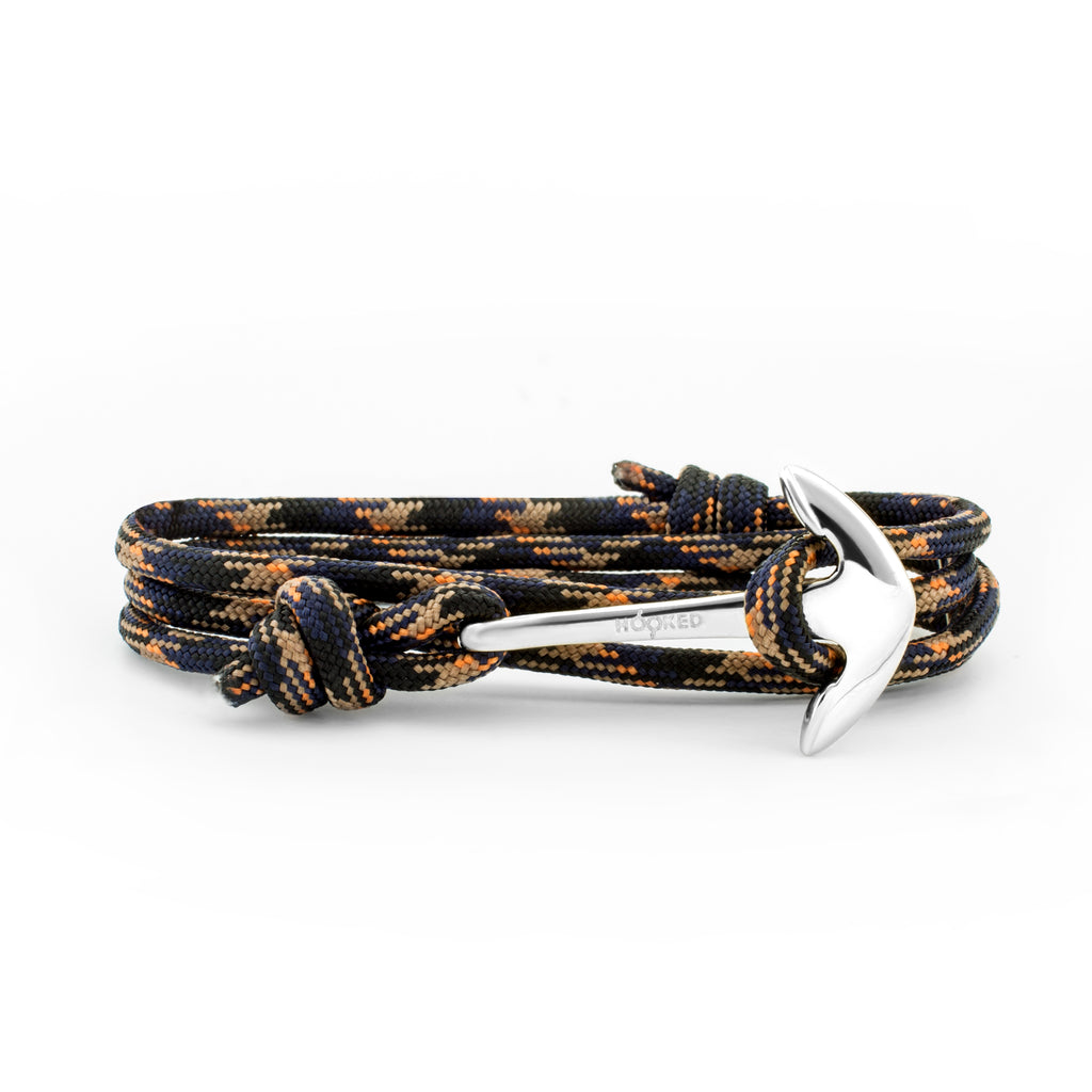 Anchor Black/Orange/Blue Paracord Wrap
