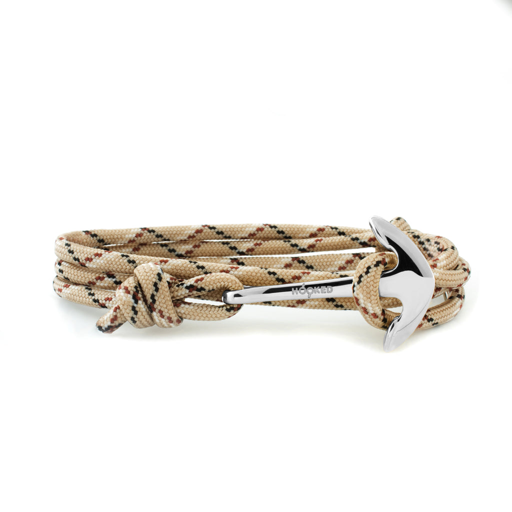 Anchor Nude/Brown/Black Paracord Wrap