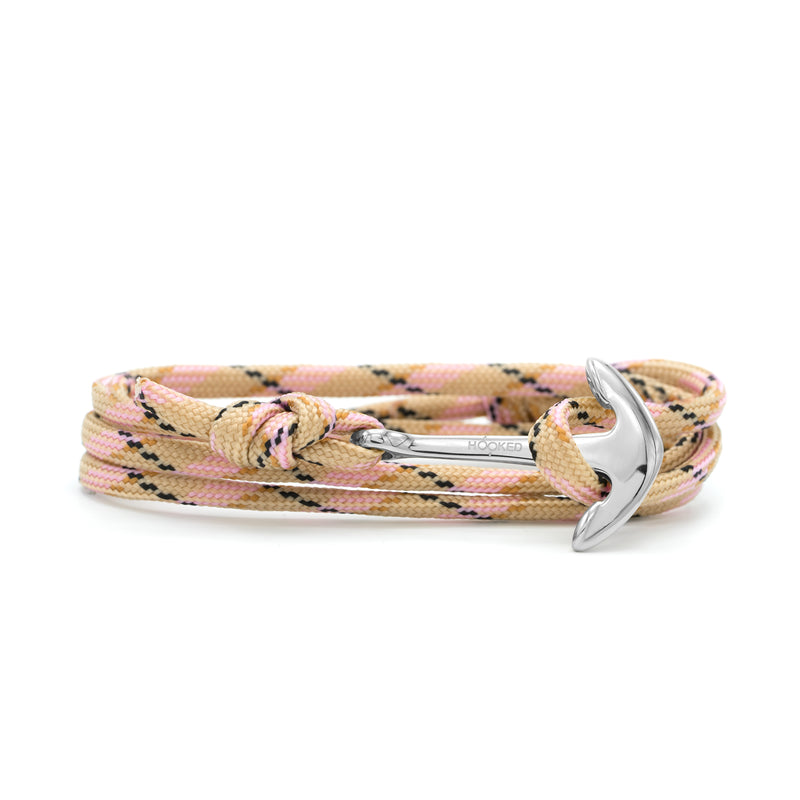 Anchor Pink/Black/Nude Paracord Wrap