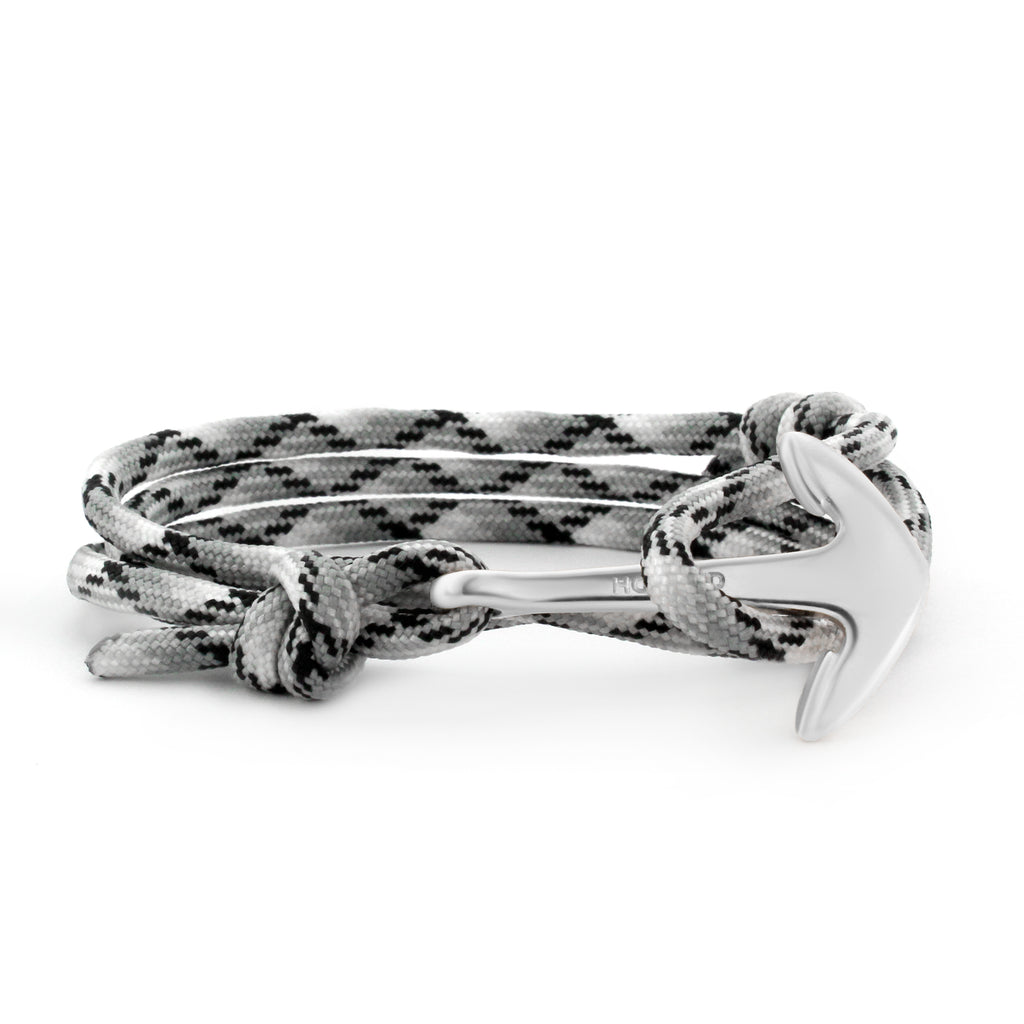 Anchor Black/White/Grey Paracord Wrap
