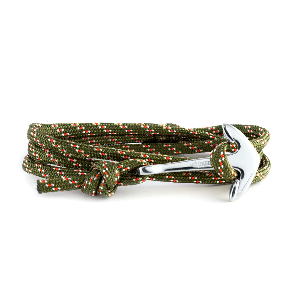 Silver Anchor | Multi-color Paracord wrap