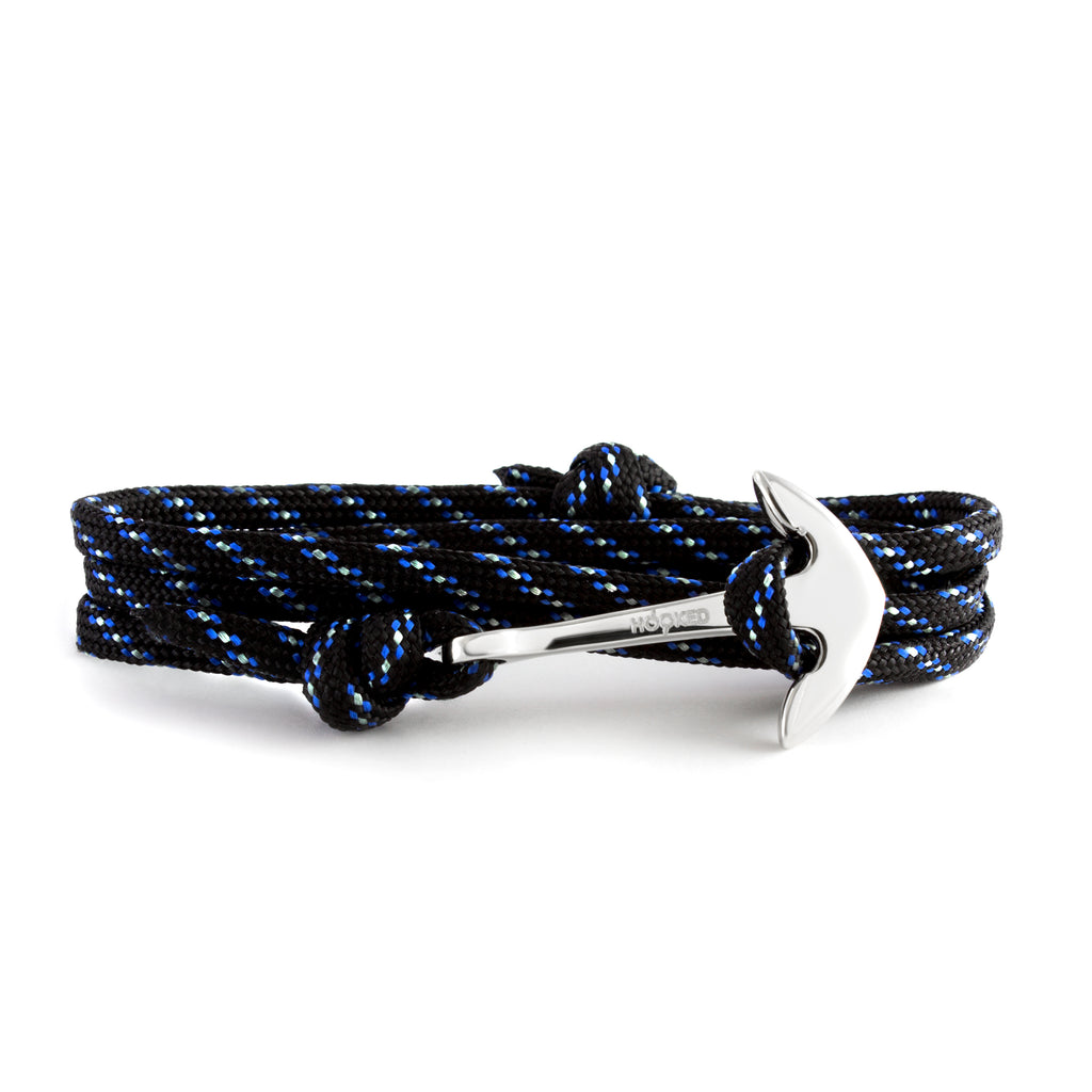 Anchor Black/Blue/White Paracord Wrap